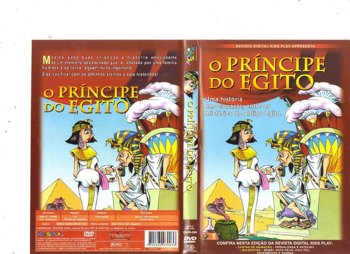Dvd O Principe Do Egito Desenho Original R 14 99 Em Mercado Livre