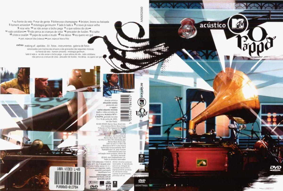 dvd o rappa acustico mtv 2005