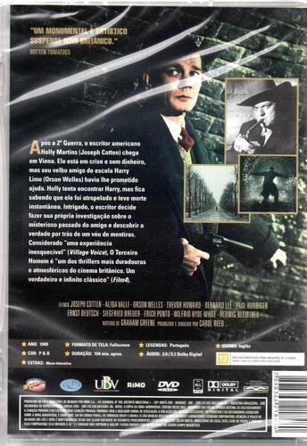 dvd o terceiro homem - classicline - bonellihq l19