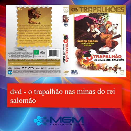 dvd - o trapalhão na mina do rei salomão