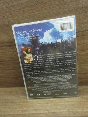 dvd - o último dos moicanos - daniel day-lewis - novo