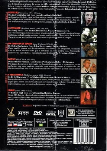 dvd obras-primas do terror 11 c/cards versatil bonellihq l19