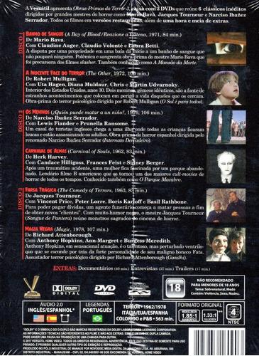 dvd obras-primas do terror 3 versatil bonellihq l19