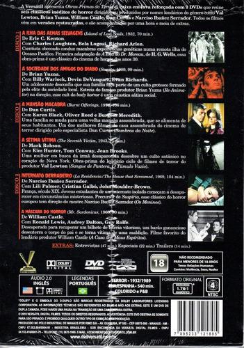 dvd obras-primas do terror 6 s/cards versatil bonellihq l19