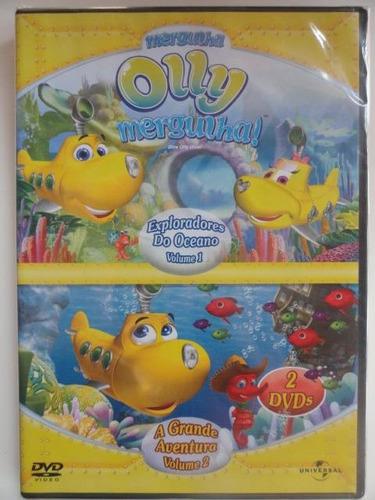 dvd olly mergulha exploradores do oceano - novo lacrado 2dvd