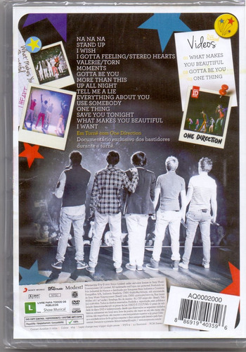 dvd one direction - up all night / the live tour - novo***