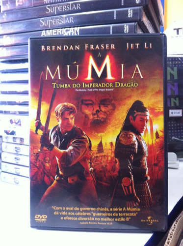 dvd original a múmia - tumba do imperador dragão (lacrado)