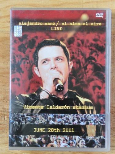 dvd original alejandro sanz en concierto el alma al aire