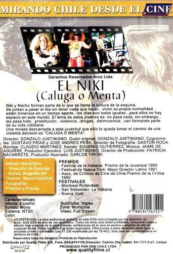 dvd original : caluga o menta ( el niki ) cine chileno justi