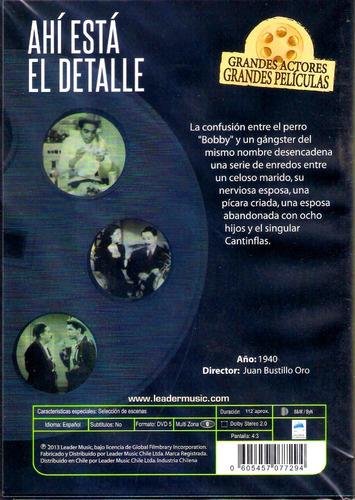 dvd original : cantinflas ahí está el detalle -  pardavé