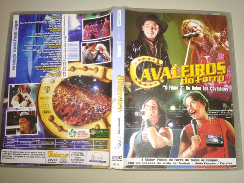 dvd original - cavaleiros do forro ao vivo o filme 2