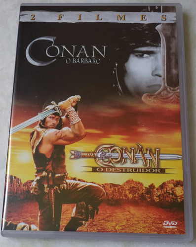 dvd original conan o barbaro/conan o destruidor  duplo