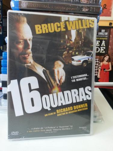 dvd original do filme 16 quadras (lacrado)