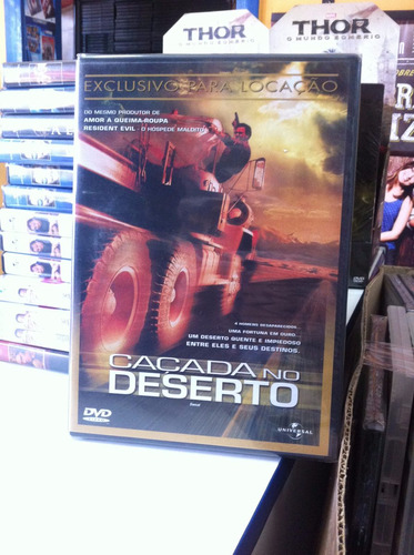 dvd original do filme caçada no deserto (lacrado)