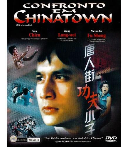 dvd original do filme confronto em chinatown (capa rasurada)