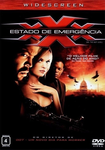 dvd original do filme xxx - estado de emergência - dublado