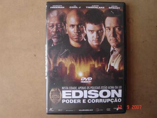 dvd original  edison poder e corrupção