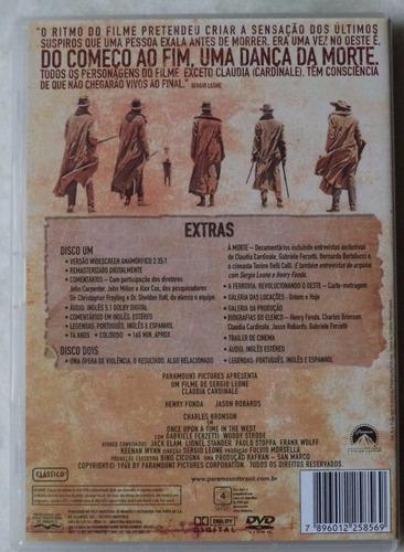 dvd original era uma vez no oeste duplo