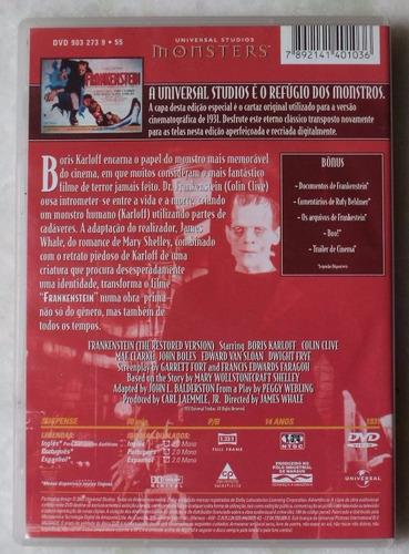 dvd original frankenstein universal novo