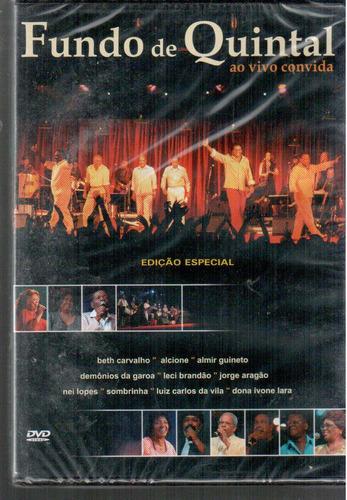 dvd original fundo de quintal ao vivo convida (cx 15) ok