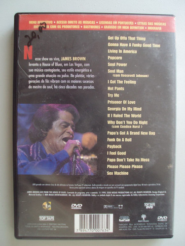 dvd original  james brown live from the house of blues