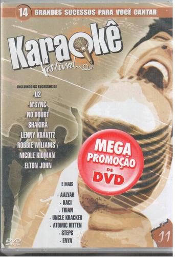 dvd original karaokê festival  14 sucessos vl 11 (cx 29) ok