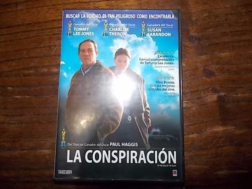 dvd original la conspiracion - haggis -  jones - theron