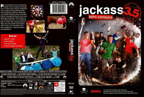 dvd original lacrado jackass 3.5 sem censura