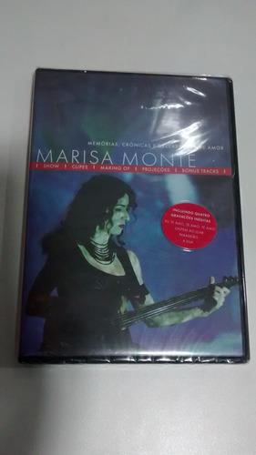 dvd original lacrado marisa monte memórias... frete r$ 10