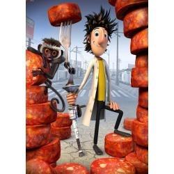 dvd original : lluvia de hamburguesas - dia niño-madre-padre