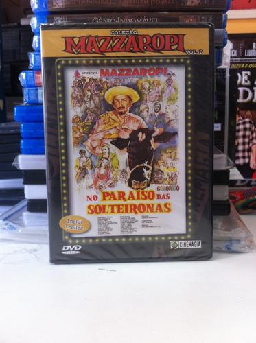 dvd original mazzaropi - no paraíso das solteirona (lacrado)