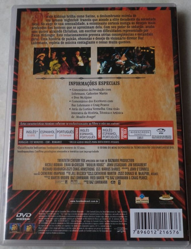 dvd original moulin rouge