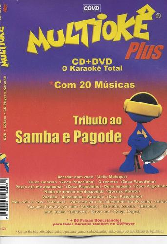 dvd original multiokê tributo ao samba e pagode (cx 32) ok