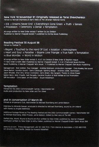 dvd original new order 3 16 new york 1981 reading festival98