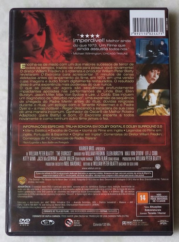 dvd original o exorcista  novo
