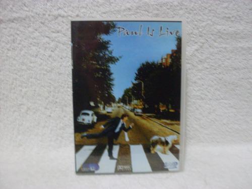 dvd original paul mccartney- paul is live