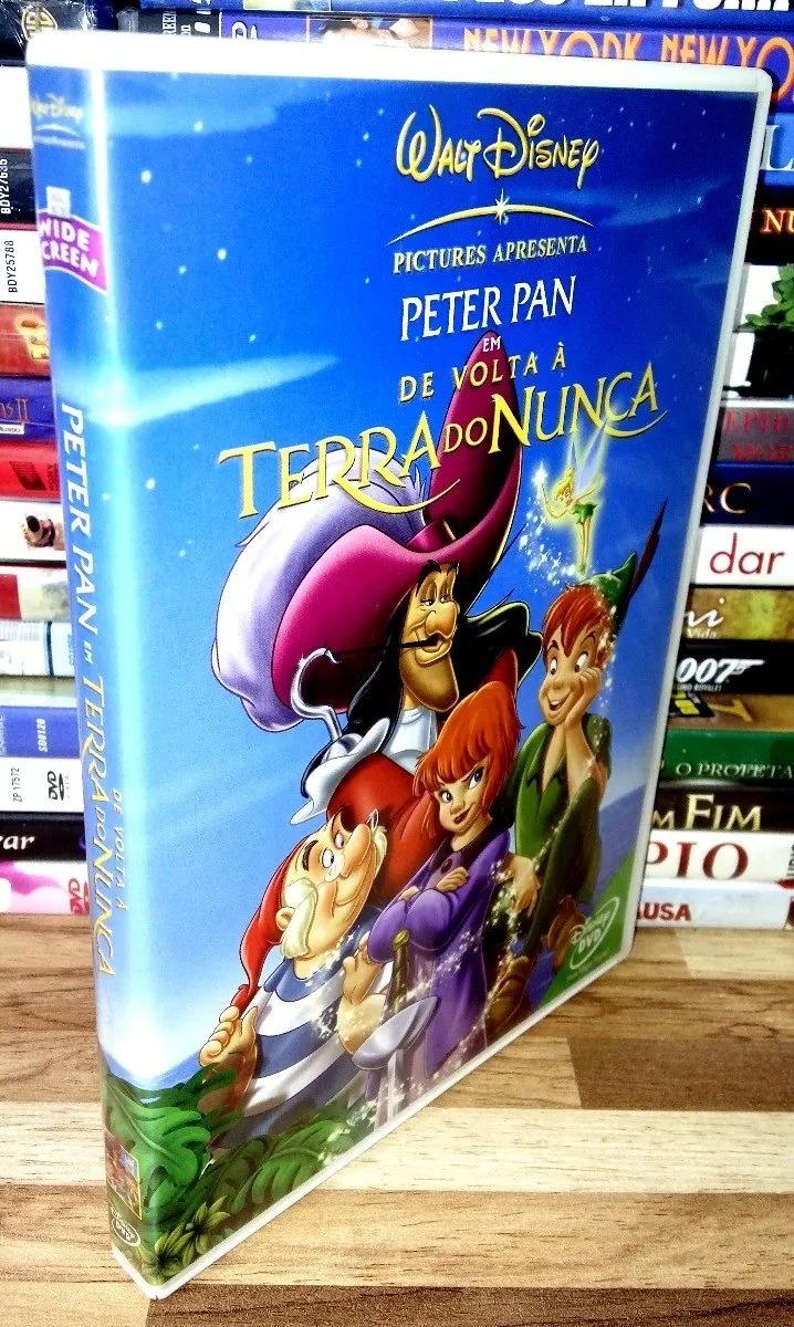 Dvd Original Peter Pan De Volta A Terra Do Nunca Disney