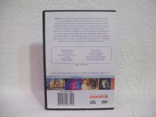 dvd original programa amaury júnior- welcome to orlando