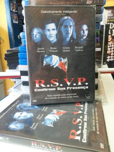dvd original r.s.v.p. - confirme sua presença (lacrado)