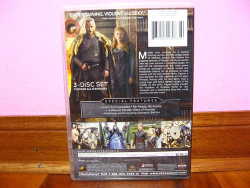 dvd original / serie vikings /2da temporada completa/ 3 disc
