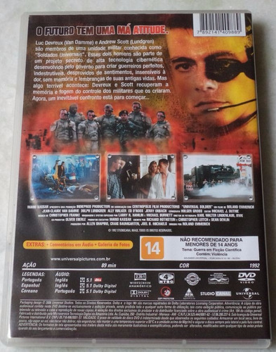 dvd original soldado universal