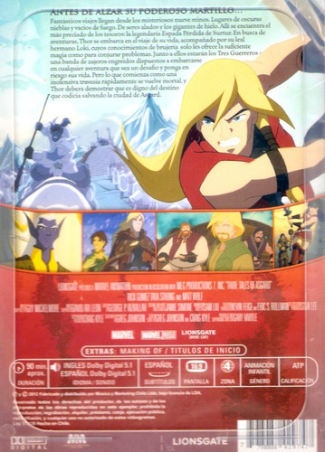 dvd original : thor las historias de asgard marvel animated