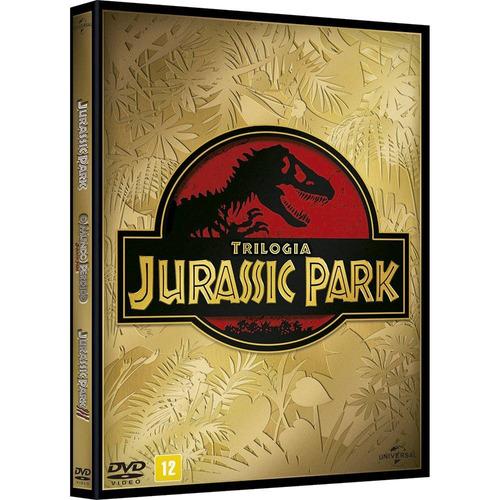 dvd original trilogia filme jurassic park - novo lacrado