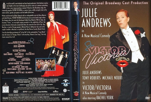 dvd original victor victoria - julie andrews - sellada!!!