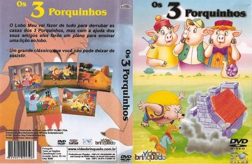 dvd os 3 três porquinhos o melhor desenho