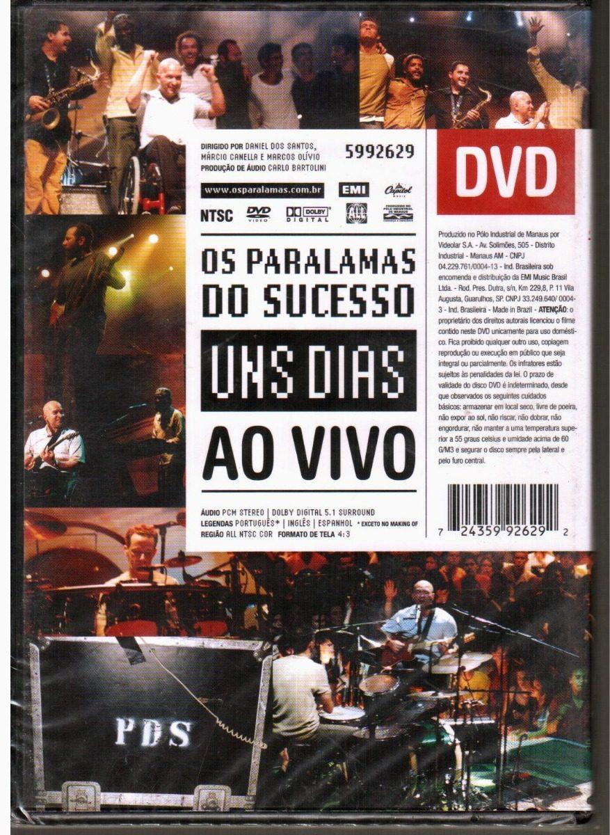 dvd paralamas do sucesso uns dias ao vivo
