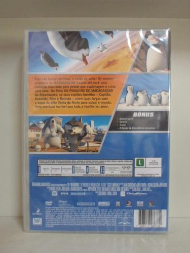 dvd os pinguins de madagascar - lacrado - frete 8,00