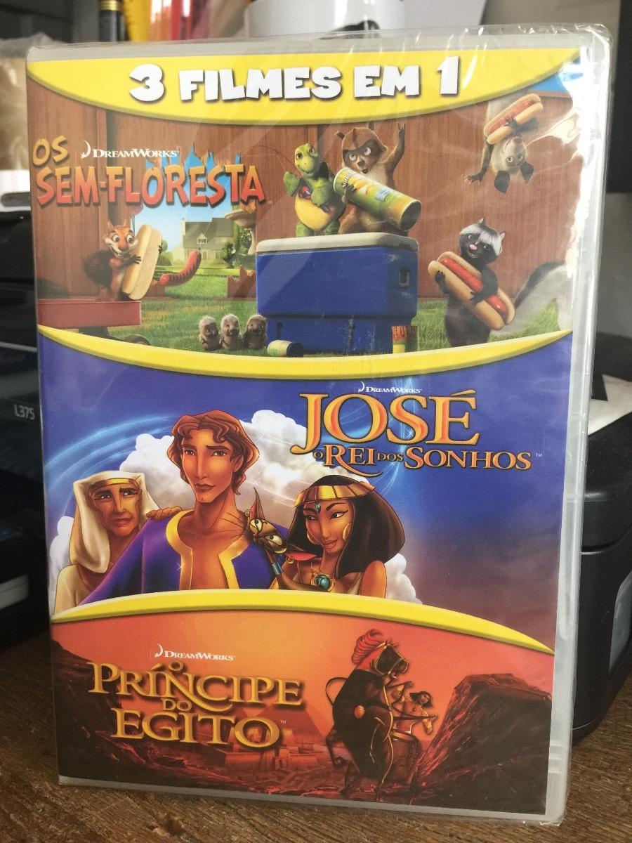 Dvd Os Sem Floresta O Principe Do Egito Jose Rei Dos Sonhos R
