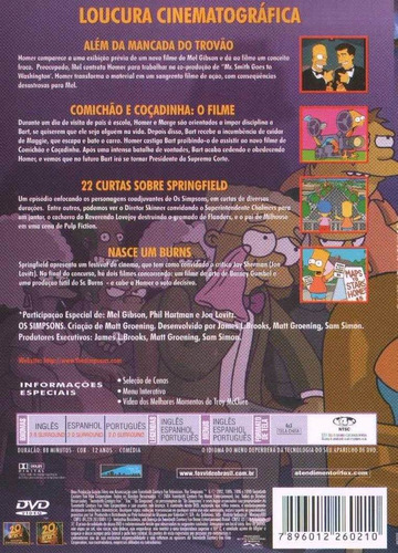 dvd os simpsons film festival frete 7 reais