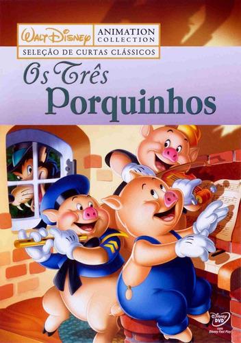 dvd - os três porquinhos - walt disney - lacrado
